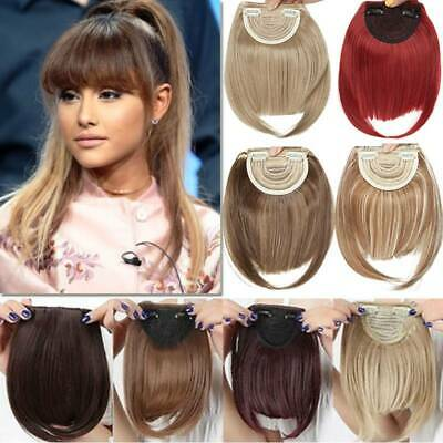 One Piece As Human Hair Neat Side Bangs Clip In Fringe Front Fake Hair Extension