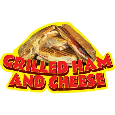 GRILLED HAM AND CHEESE Concession Decal sign cart trailer stand sticker