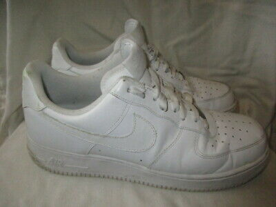 Nike Air Force 1 white trainers, UK 10