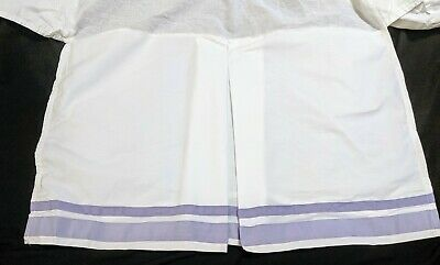Pottery Barn Kids Lot Lavender Harper Crib Skirt & Polka Dot Crib Sheet