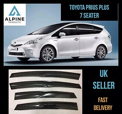 Toyota Prius Plus 7 Seater 2018-2019 Window Visor Deflector Sun Rain Guard Smoke