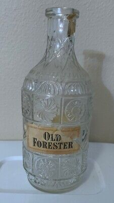 Antique Old Forester Glass Decanter