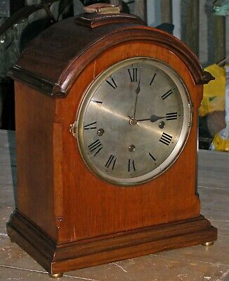 Antique French Movement Bracket Clock Walker Hall Westminster Chime 3 Spring 15x