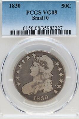 1830 Capped Bust Half Dollar PCGS VG 8 Small 0 - *DoubleJCoins* - 3003-58