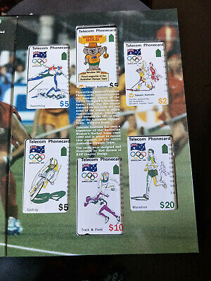 Mint 1992 Barcelona Olympics Games Phonecard Pack