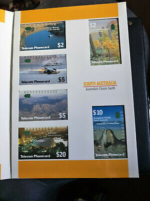 Mint South Australia Phonecard Pack