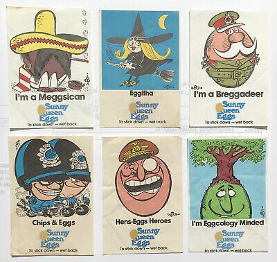 1970S Sunny Queen Eggs Promo Stickers Trading Cards Weg Art So-So To Eggcellent!