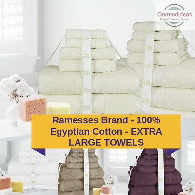 Ramesses 100% Premium Egyptian Cotton Extra Large Bath Sheet Towel 7/14 Pc Set