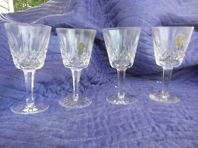 Pristine Set Of 4 Waterford Lismore Cut Crystal Tall Water Goblets - Stemware