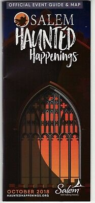 Salem MA Haunted Happenings Official Event Guide Map Brochure Witch Museum 2018