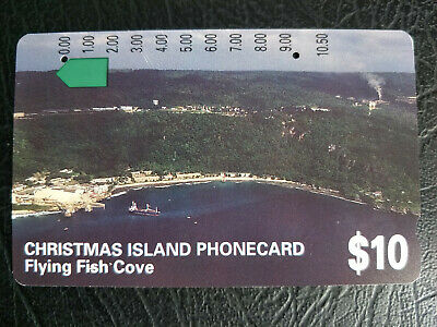 Used $10 Christmas Island Flying Fish Cove Phonecard Prefix 384