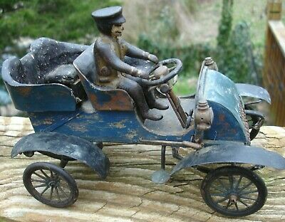 RARE handmade wood body orig 1903 Henry FORD salesman MODEL A 1/16 scale toy car