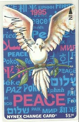 Nynex 1994 Peace Card Signed by Designer Mint