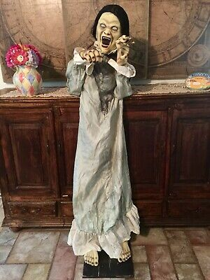 Spirit Halloween 5.5' Ft Animatronic Prop Broken Girl Animated Life-Size Decor