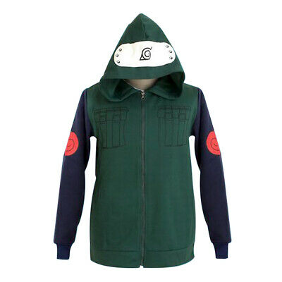 Naruto Kakashi Coat Hoodie Costume Japanese Anime Cosplay Clothes Fine Hot Hot