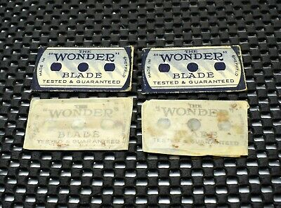 "Vintage ""The Wonder"" Double Edge Safety Razor Blades Sheffield England"