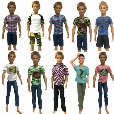 Barbie Doll Ken Clothes Handmade Fashion Outfit Pants T Shirt Shorts Accessorie