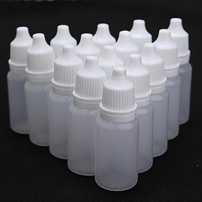 10ml 30ml 50ml Empty Plastic Squeezable Dropper Bottles Eye Care Liquid Droppers