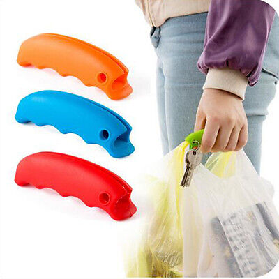 Portable Silicone Fruit Shopping Bag Hanger Hand Protector Gadget Keychains Kit