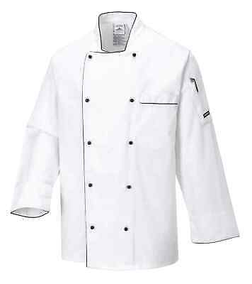 Portwest C776 Executive Men Chef Jacket Long Sleeve Catering Restaurant Workwear