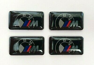 4x M Performance 3D Wheel Logo Badge Stickers M Power Decal Emblem For BMW Cars