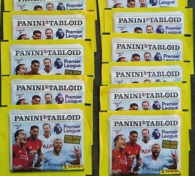 9 X Panini Tabloid Premier League Stickers,  NEW AND SEALED AS PICTURED