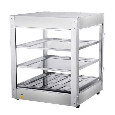 3 Tier Food Warmer Commercial Pie Pizza Cabinet Display Showcase Countertop UK