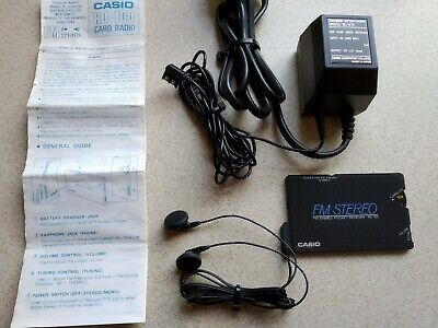 Casio Card Radio Rd-100  Made In Japan