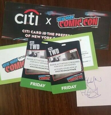 NYCC New York Comic Con 2019 Friday Pass Badge Ticket 10/4/2019 Fan Verified