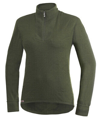Woolpower Turtleneck 400 green XXS Hemd Thermounterwäsche Merinowolle Outdoor