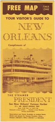 1960's Visitor's Guide & Map Of New Orleans Louisiana Brochure