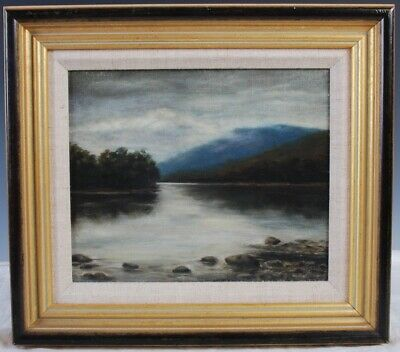 A Misty Loch   Late 19th Early 20th Century Oil Painting on Canvas