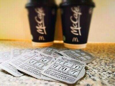 Mcdonalds coffee vouchers. 10 pre filled cards £5. (Cups not included)