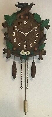 Lux Keebler 8 Day Robin and Acorns Cuckoo Style Clock