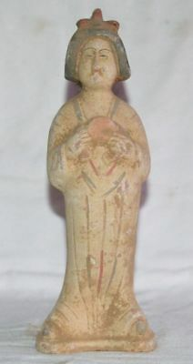 China Ancient Tomb Burial Figurines Statue Clay Fired Mini Musician Pottery 5