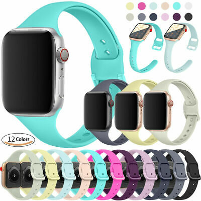 38/42mm 40/44mm Slim Silicone Apple Watch Band Strap for iWatch Series 5 4 3 2 1