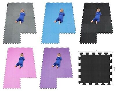 20 Pcs Eva Foam Mat Soft Floor Tiles Interlocking Play Kids Baby Mats Gym Yoga