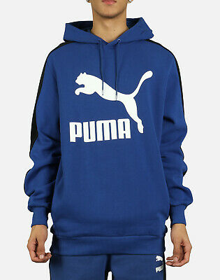 PUMA MEN'S CLASSICS T7 Logo Full Zip Hoodie Fleece