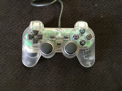 Clear Sony PlayStation 1 PS1 DualShock Controller - Official OEM - TESTED - RARE