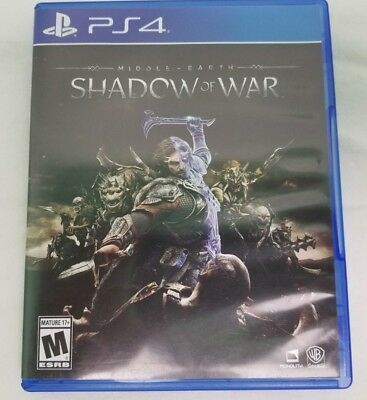 Middle-Earth Shadow of War Game Sony Playstation 4 2017