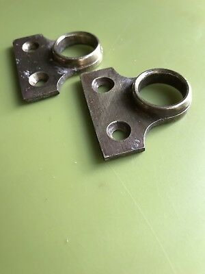 2 Antique Brass sash window Eye Ring Pulls
