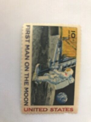 Apollo 11 - First Man On The Moon - 1969 Block Of 4 U.s. Stamps - Mint Condition
