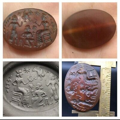 Wonderfull Very Old Carnlien Agte Roman History Craved Uniqe Bead