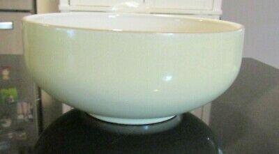 1~Denby Fire~No Swirl 6 Inch Soup/Cereal Bowl (S)~Cream/Sage~Excellent