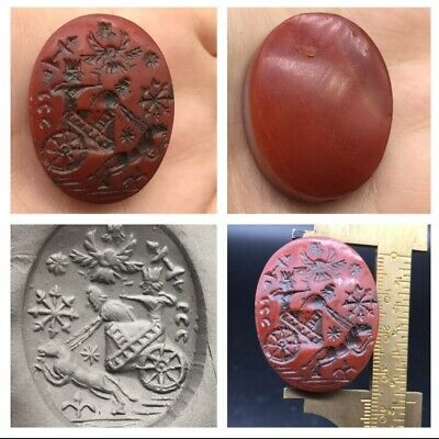 Excellent Old carnliean Agte Roman Intaglio Stame Unique Bead