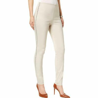INC International Concepts Tie Bottom Capri Pants Curvy Fit Toad Beige NWT $59