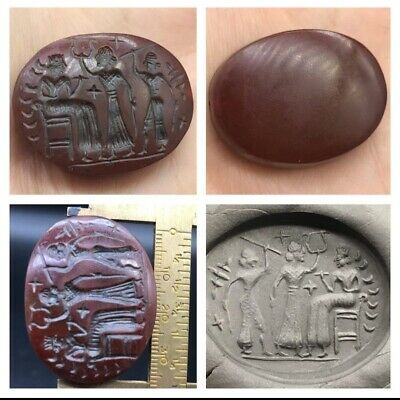 Wonderfull Old Roman Kindom History Intaglio Stamp Antiqe Bead