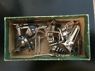 Vintage 1940's, Singer Sewing Machine Attachments with Box