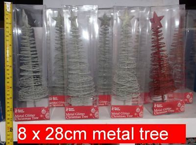 8 Metal wire filigree Christmas trees. Wholesale Joblot reseller clearance xmas