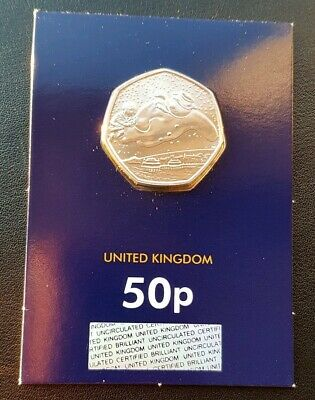 2018 Royal Mint 40th Anniversary - The Snowman 50p Fifty Pence Certified BU Coin